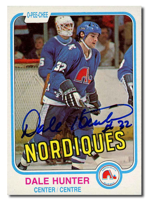 Dale Hunter Autographed 1981-82 O-Pee-Chee Rookie Card