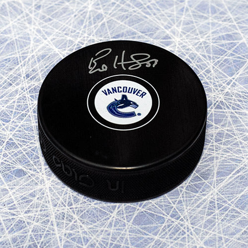 Bo Horvat Vancouver Canucks Signed Autograph Model Hockey Puck