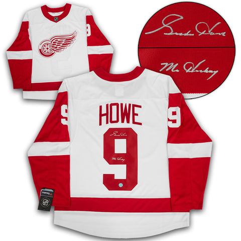 Gordie Howe Detroit Red Wings Signed Retired Jersey Number 23x19 ...