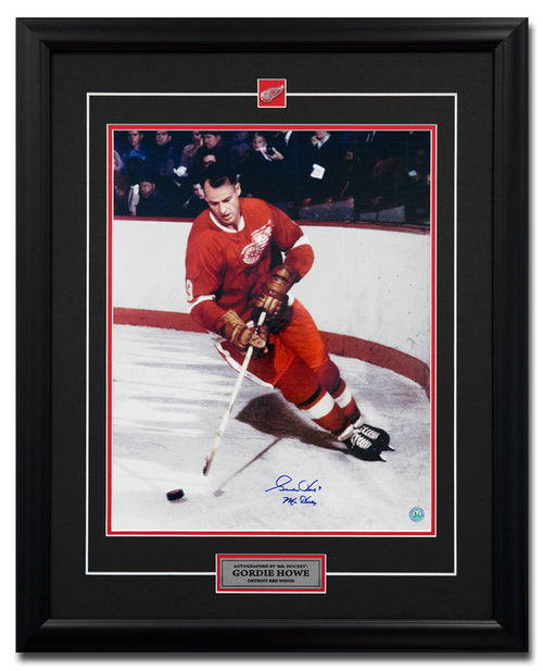 Gordie Howe Detroit Red Wings Autographed Original Six Legend 25x31 Frame