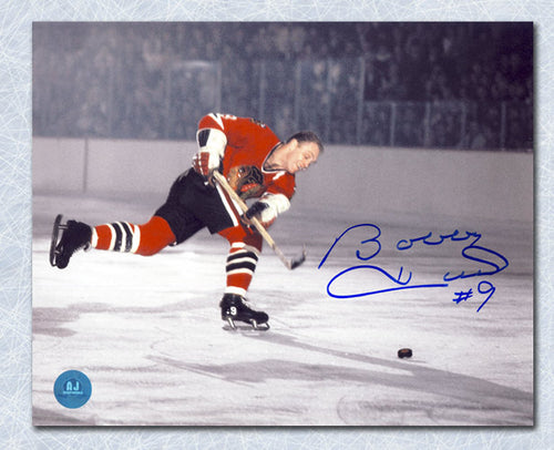 Bobby Hull Chicago Blackhawks Autographed Record 51st Goal 8x10 Photo
