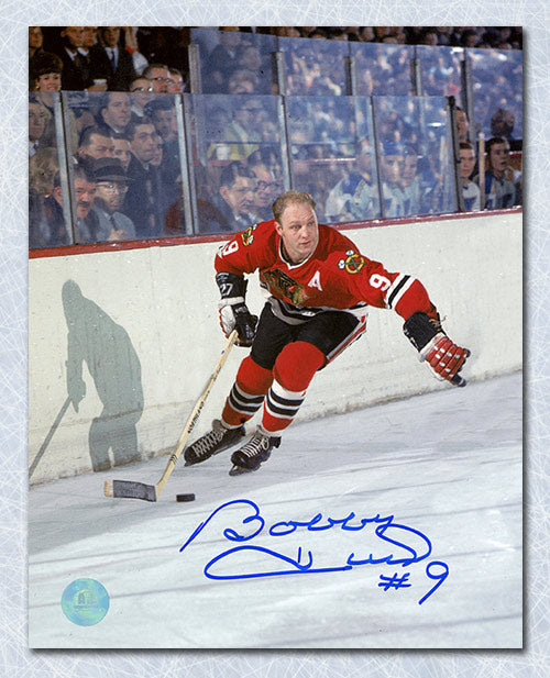Bobby Hull Chicago Blackhawks Autographed Golden Jet Hockey 8x10 Photo