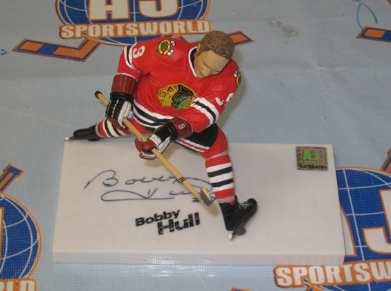 fd6c3b1bf Bobby Hull Chicago Blackhawks Autographed McFarlane SP – A.J. Sports ...