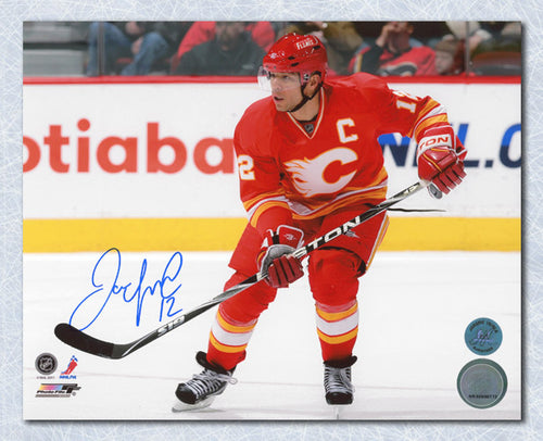 Jarome Iginla Calgary Flames Autographed Retro Jersey 8x10 Photo