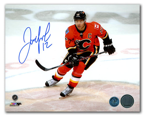 Jarome Iginla Calgary Flames Autographed Center Ice 8x10 Photo
