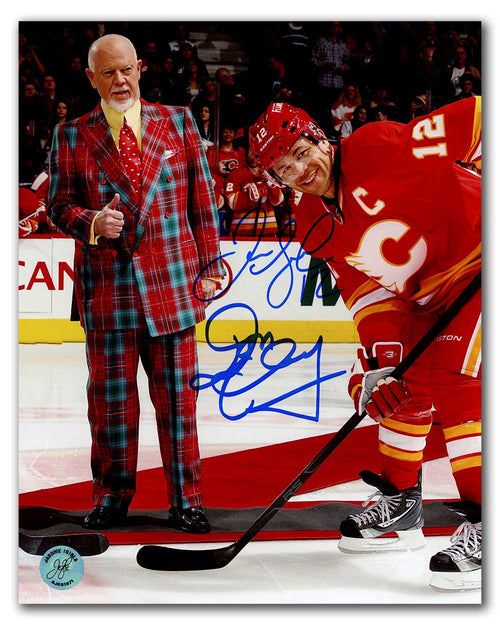 Jarome Iginla & Don Cherry Dual Signed Calgary Flames Face Off 8x10 Photo