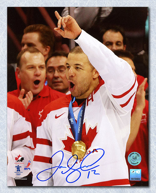 Jarome Iginla Team Canada Autographed 2010 Olympic Gold Medal 8x10 Photo
