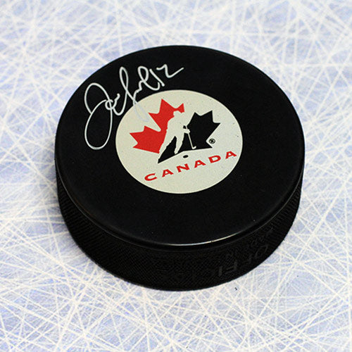 Jarome Iginla Team Canada Autographed Olympic Hockey Puck