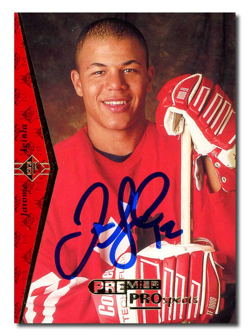 Jarome Iginla Autographed 1995-96 Upper Deck SPA Rookie Card