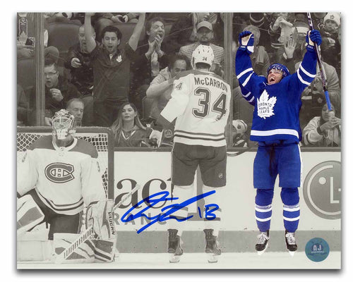 Andreas Johnsson Toronto Maple Leafs Autographed 1st Career Goal 8x10 Photo