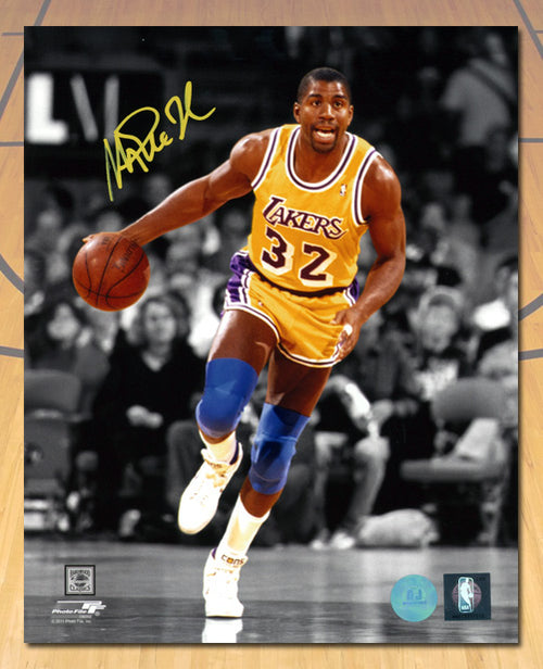 Magic Johnson Los Angeles Lakers Autographed Spotlight 8x10 Photo