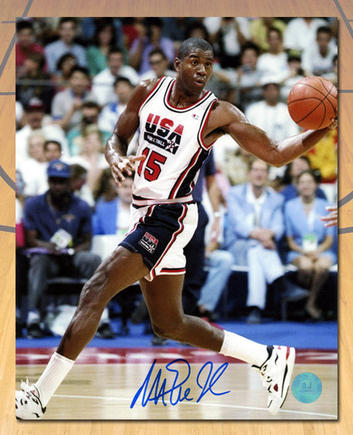 Magic-Johnson-Team-USA-Autographed-1992-Olympic-Dream-Team-8x10-Photo