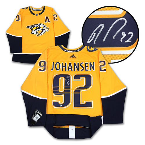 Ryan Johansen Nashville Predators Autographed Adidas Authentic Hockey Jersey