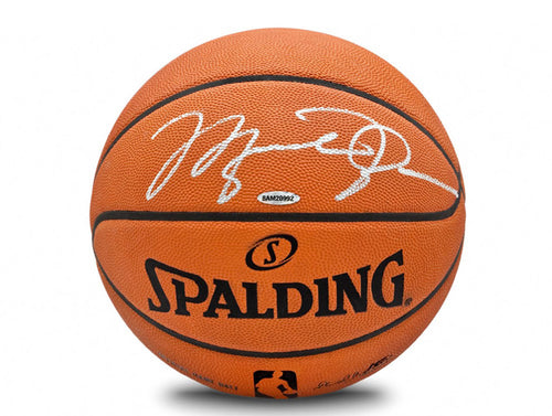 Michael Jordan Autographed Spalding NBA Official Game Basketball: Upper Deck