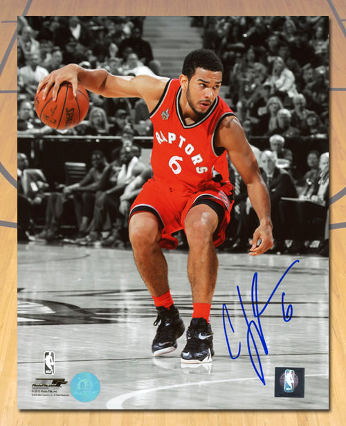 Cory Joseph Toronto Raptors Autographed Basketball Spotlight 8x10 Photo