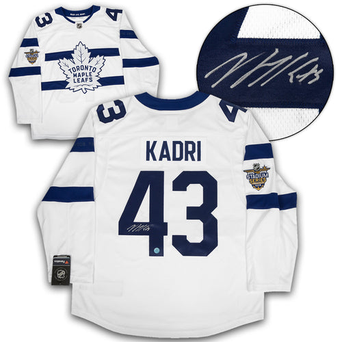 Nazem Kadri Toronto Maple Leafs Signed Stadium Series Fanatics Replica Jersey