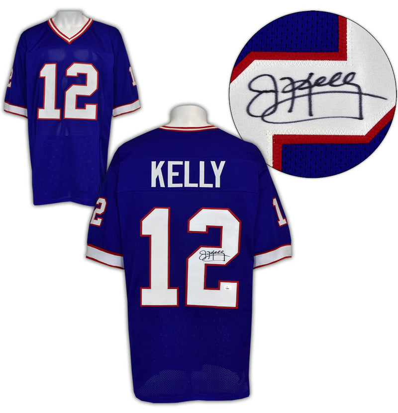 Jim Kelly Autographed Buffalo Bills Style Blue Football Jersey