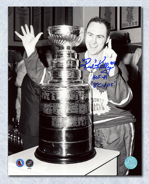 Red-Kelly-Toronto-Maple-Leafs-Autographed-Stanley-Cup-8x10-Photo