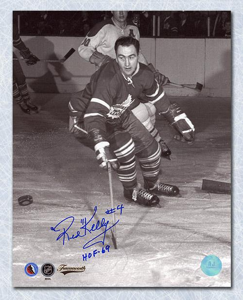 Red Kelly Toronto Maple Leafs Autographed Vintage Action 8x10 Photo