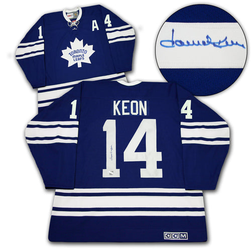 Dave Keon Toronto Maple Leafs Signed 1967 Stanley Cup CCM Vintage Hockey Jersey
