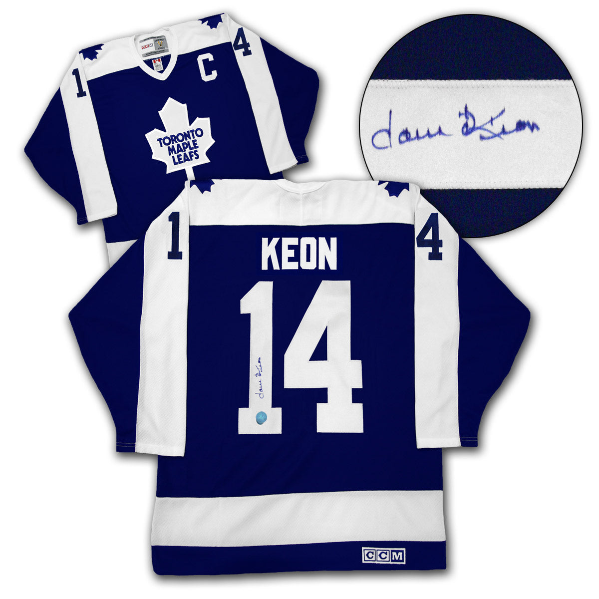 buy online 9877b c2d1f Dave Keon Toronto Maple Leafs Autographed Captain CCM Vintage Hockey Jersey