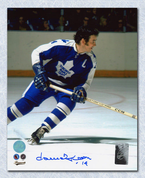 Dave Keon Toronto Maple Leafs Autographed Game Action 8x10 Photo