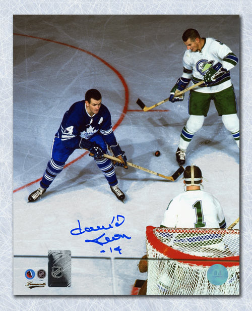 Dave Keon Toronto Maple Leafs Autographed Overhead vs Seals 8x10 Photo