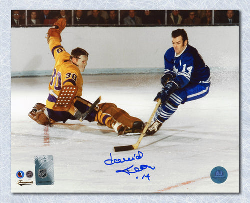 Dave Keon Toronto Maple Leafs Autographed Breakaway Goal 8x10 Photo