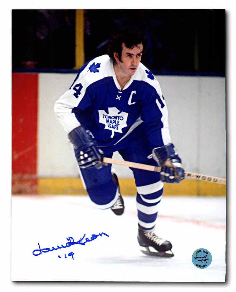 Dave Keon Toronto Maple Leafs Signed Captain Retired Jersey Number 20x24 Frame