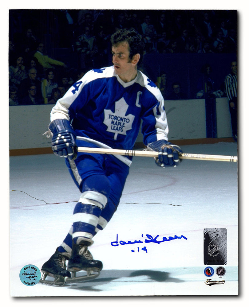 wholesale dealer 1aebb d35a6 Dave Keon Toronto Maple Leafs Autographed NHL Hockey Action 8x10 Photo