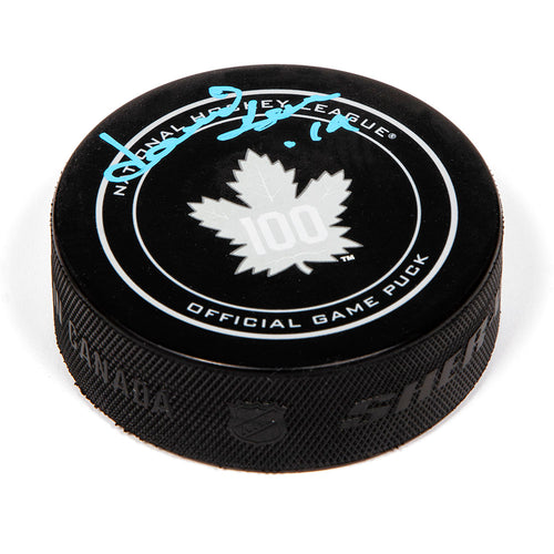Dave Keon Toronto Maple Leafs Autographed 100th Anniversary Game Model Puck