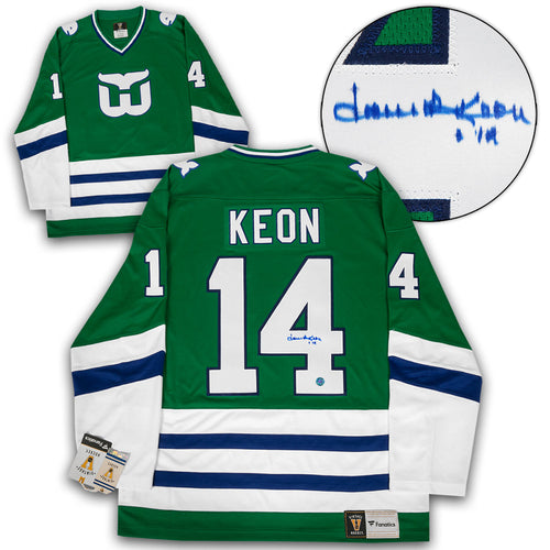 Dave Keon Hartford Whalers Autographed Last Game Fanatics Vintage Hockey Jersey