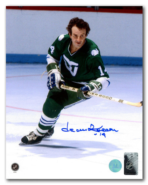 Dave Keon Hartford Whalers Autographed Final Season 8x10 Photo