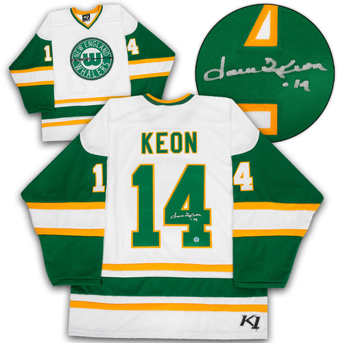 Dave Keon New England Whalers Autographed Retro WHA K1 Hockey Jersey
