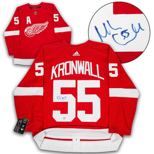 Niklas Kronwall Detroit Red Wings Autographed Adidas Authentic Hockey Jersey