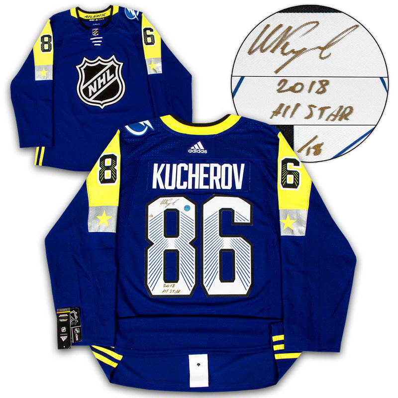 Nikita Kucherov 2018 All Star Game Signed & Inscribed Adidas Jersey /18