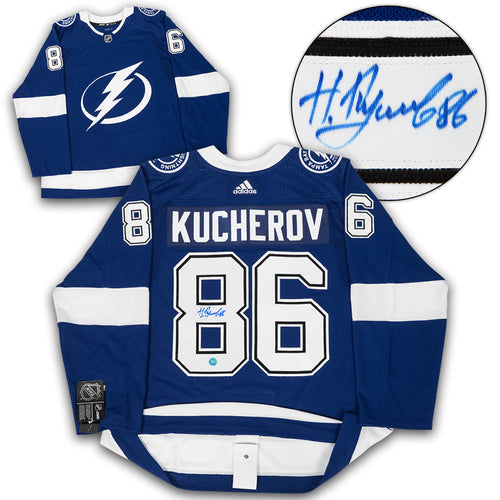 Nikita Kucherov Tampa Bay Lightning Autographed Adidas Authentic Hockey Jersey