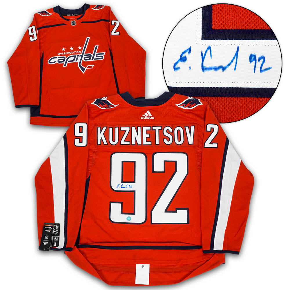 sneakers for cheap f81fc a71f1 Evgeny Kuznetsov Washington Capitals Autographed Adidas Authentic Hockey  Jersey