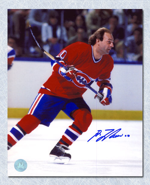 Guy LaFleur Montreal Canadiens Autographed Game Action 8x10 Photo