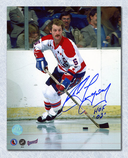 Rod Langway Washington Capitals Autographed Home Ice 8x10 Photo