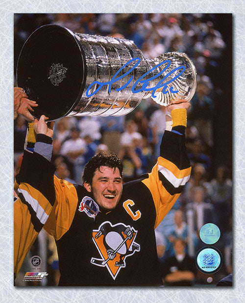 Mario-Lemieux-Pittsburgh-Penguins-Autographed-1991-Stanley-Cup-8x10-Photo