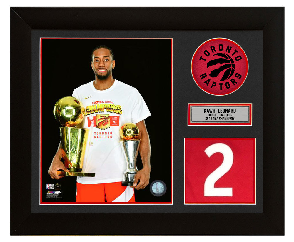 purchase cheap 01de9 f4863 Kawhi Leonard Toronto Raptors 2019 NBA Champion 20x24 Jersey Number Frame