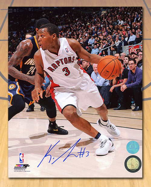 Kyle Lowry Toronto Raptors Autographed Tdot First Season Action 8x10 Photo