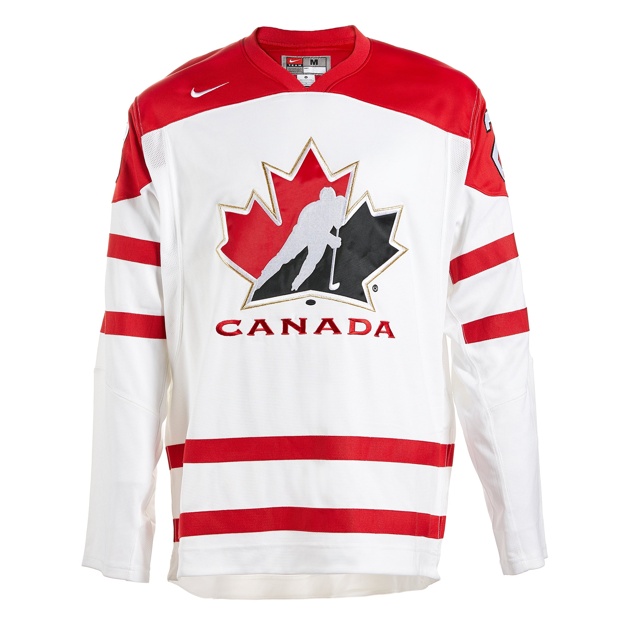 Nathan MacKinnon Team Canada Autographed White Nike World Junior Hockey Jersey - Size MED