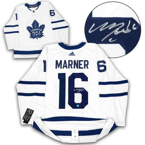Mitch Marner Toronto Maple Leafs Signed White Adidas Authentic Hockey Jersey