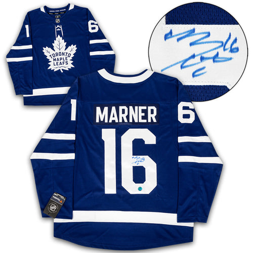 Mitch Marner Toronto Maple Leafs Autographed Blue Fanatics Hockey Jersey