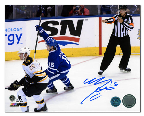 Mitch Marner Toronto Maple Leafs Autographed First NHL Goal 8x10 Photo