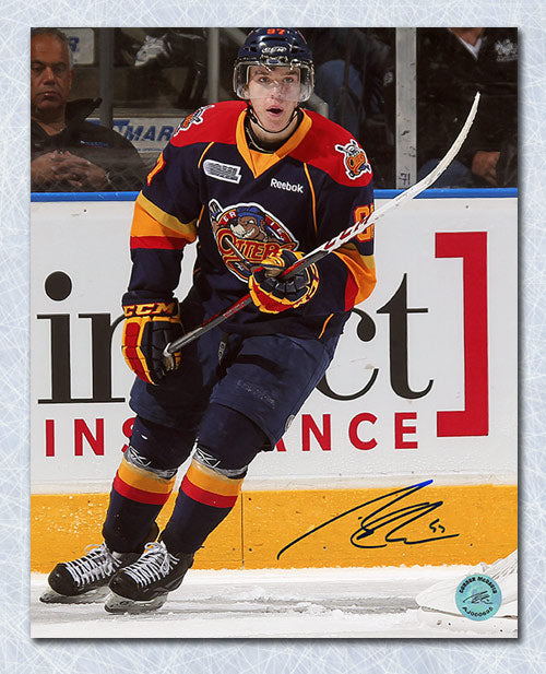 Connor McDavid Erie Otters Autographed Rookie Action 8x10 Photo