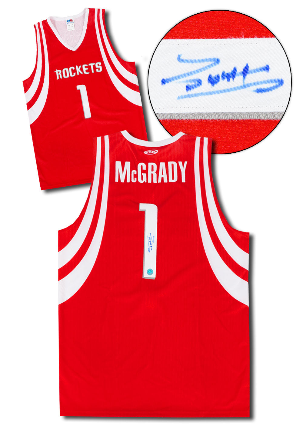 size 40 b8458 fe3c1 Tracy McGrady Houston Rockets Autographed Custom Basketball Jersey