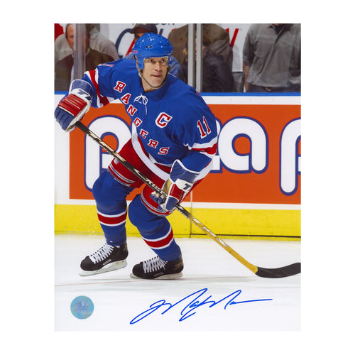 Mark Messier New York Rangers Autographed Hockey Action 8x10 Photo